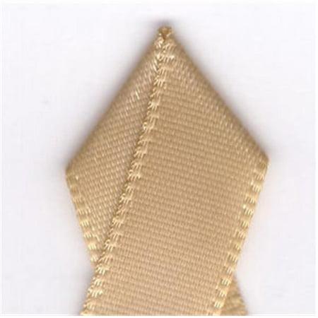 Papilion R07430209082620YD .38 in. Single-Face Satin Ribbon 20 Yards - Raw Silk