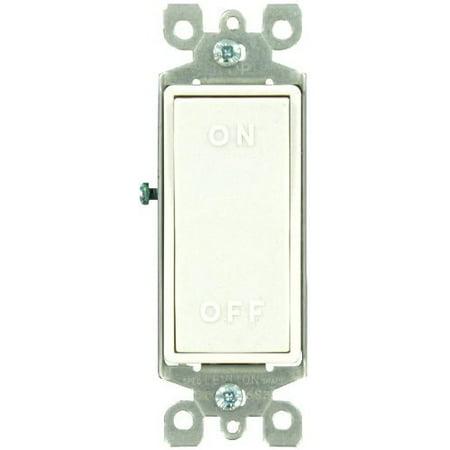 Leviton 5601-X2A Almond Decora Single Pole 'ON-OFF' Rocker Light Switch (Single Pole Decora Rocker Switch)