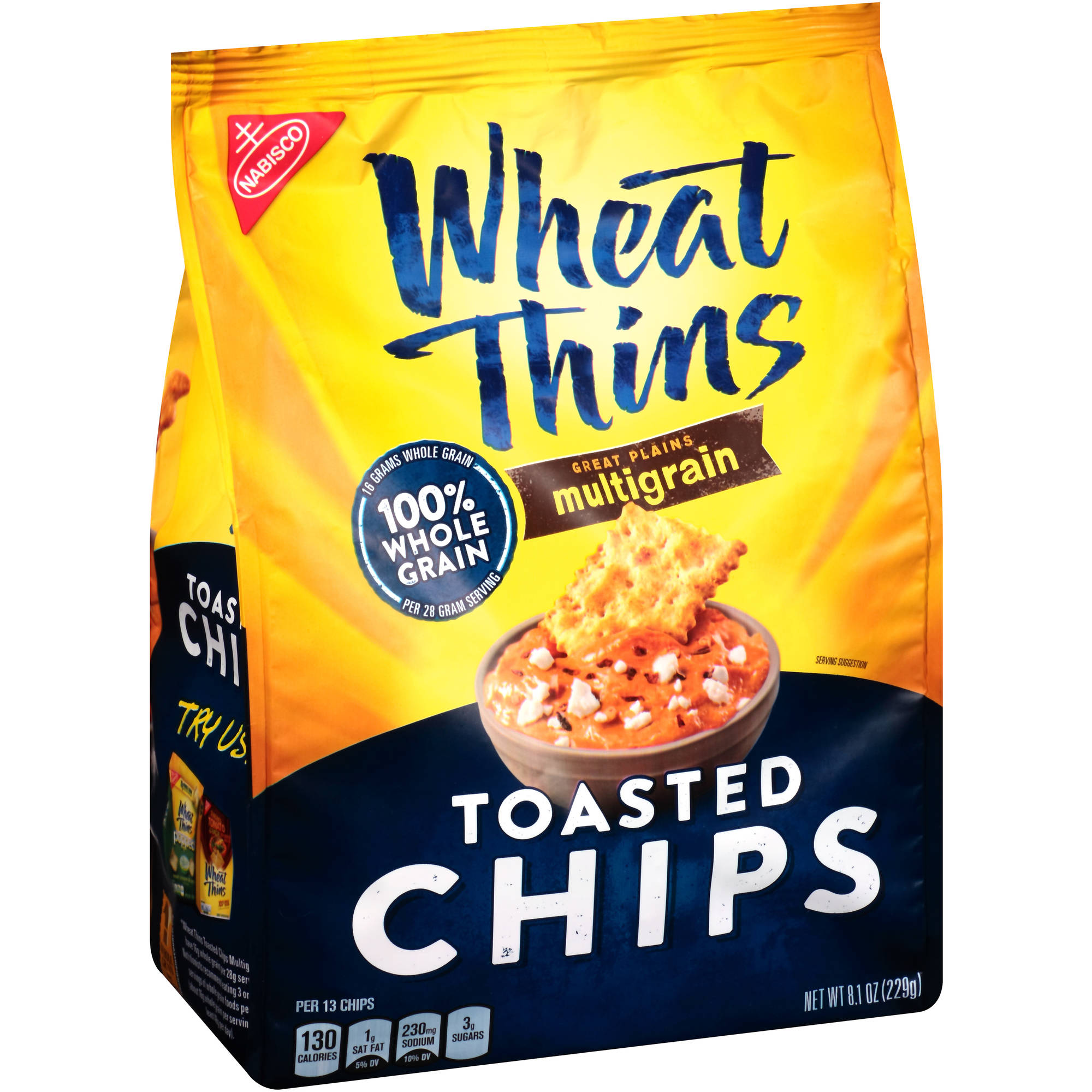 Nabisco Wheat Thins Great Plains Multigrain Toasted Chips, 8.1 oz