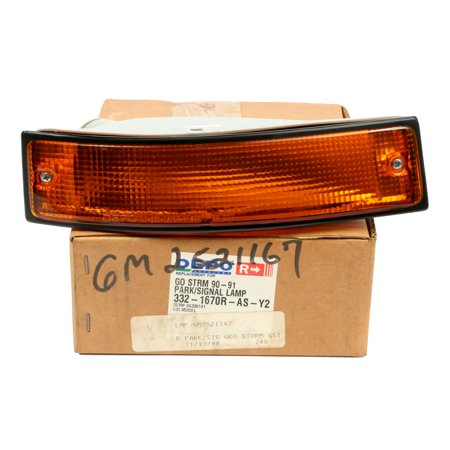 1990-1991 Geo Storm Front Right Park Lamp Turn Signal Light Part  GSi 94336191 (Geo Storm Body Kit)
