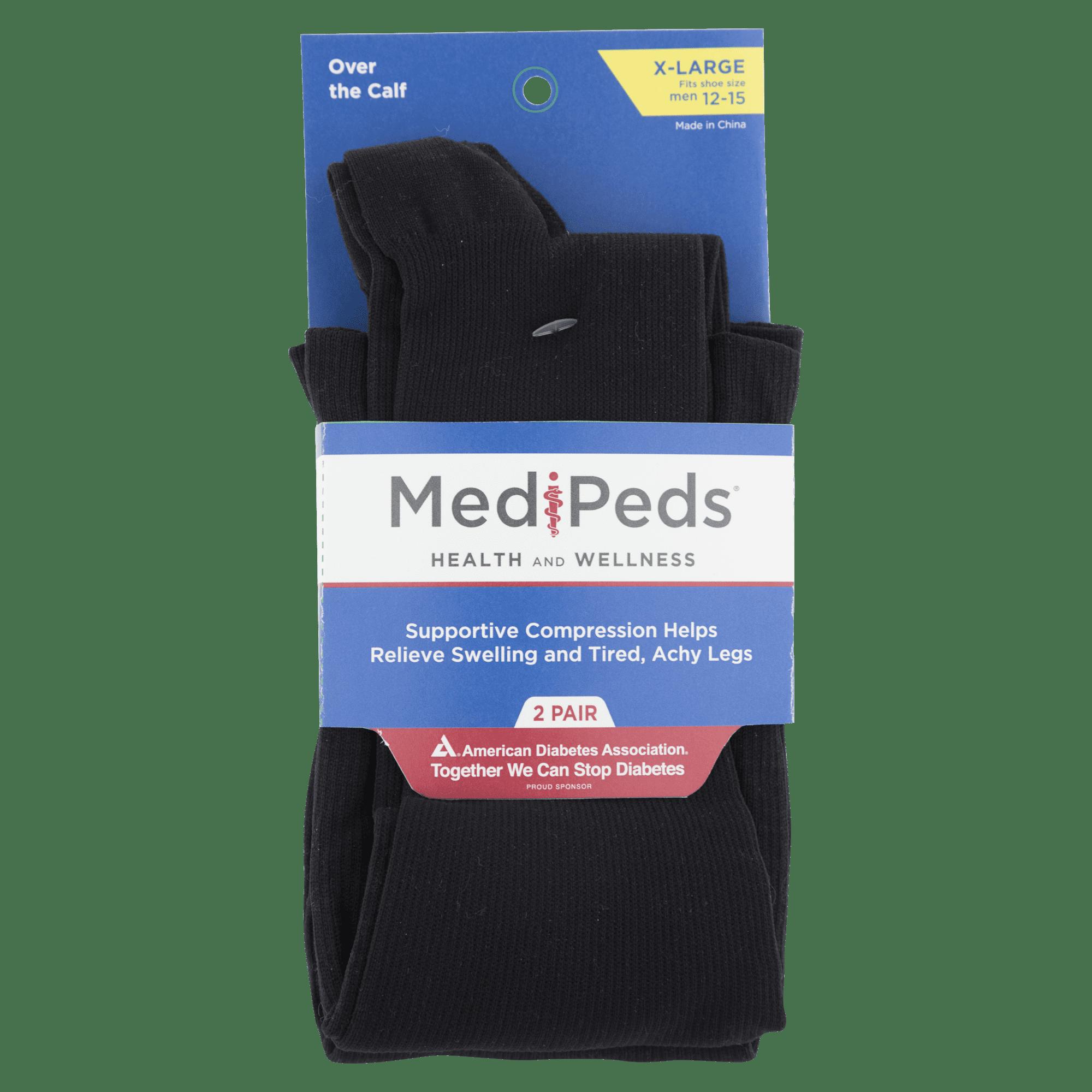 075fafa045 MediPeds - MediPeds Compression Over the Calf, 2-Pack - Walmart.com