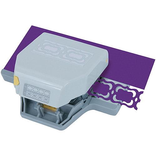 EK Success Paper Shapers 2-In-1 Edge Punch, Flourish Squares