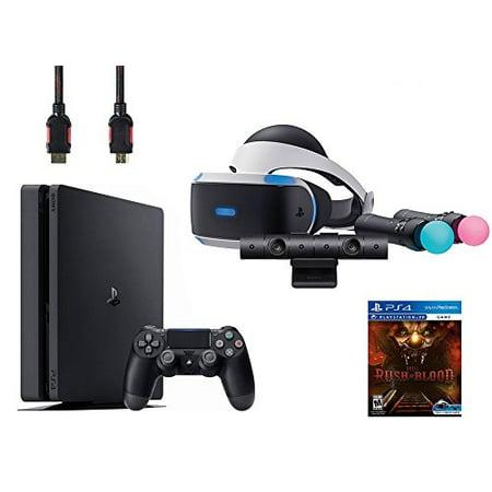 PlayStation VR Start Bundle 5 Items: VR Start Bundle,Sony PS4 Slim 1TB Console - Jet Black,VR game disc PSVR Until Dawn: Rush of Blood ()