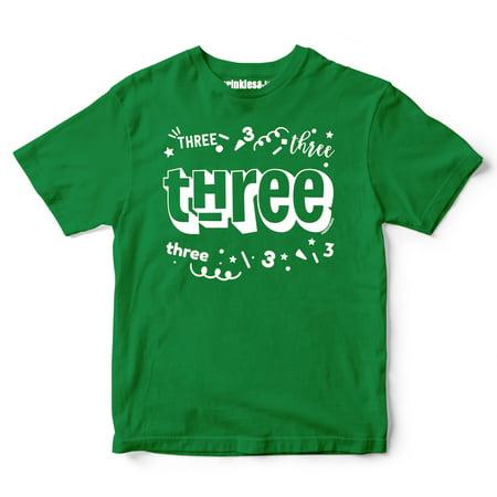 Sprinkles And Jam Three Confetti Style Boys 2nd Birthday Boy Shirt