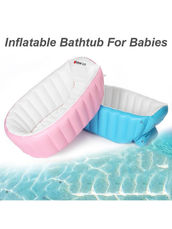 Portable Baby Kids Toddler Inflatable Bathtub Newborn Bathtub Thick Folding by
