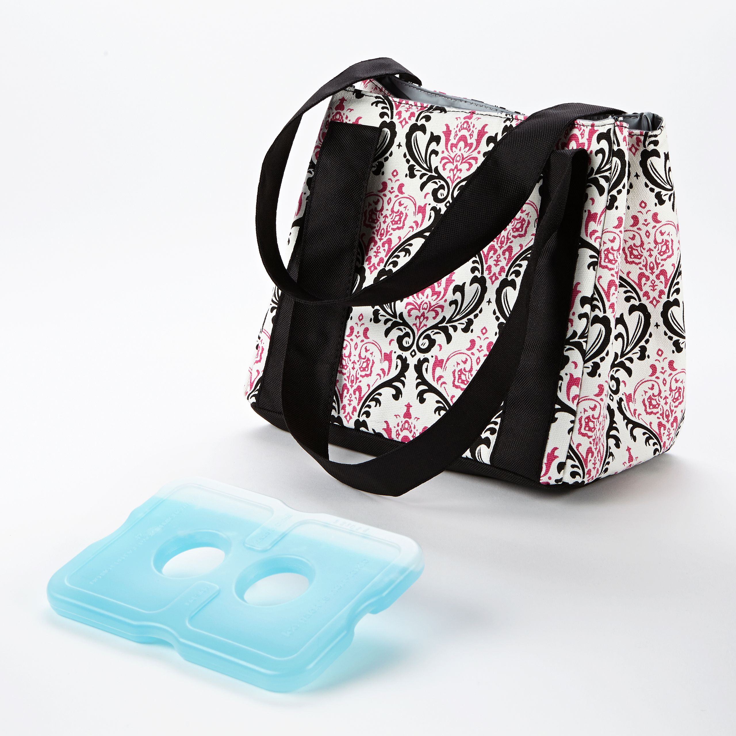 Fit & Fresh Venice Insulated Lunch Bag (Pink & Black Chandelier) 378FF06