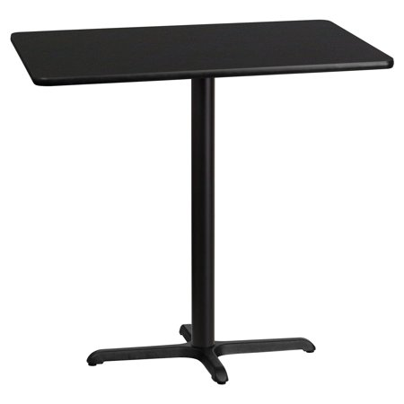 - Flash Furniture 30'' x 42'' Rectangular Laminate Table Top with 22'' x 30'' Bar Height Table Base, Multiple Colors