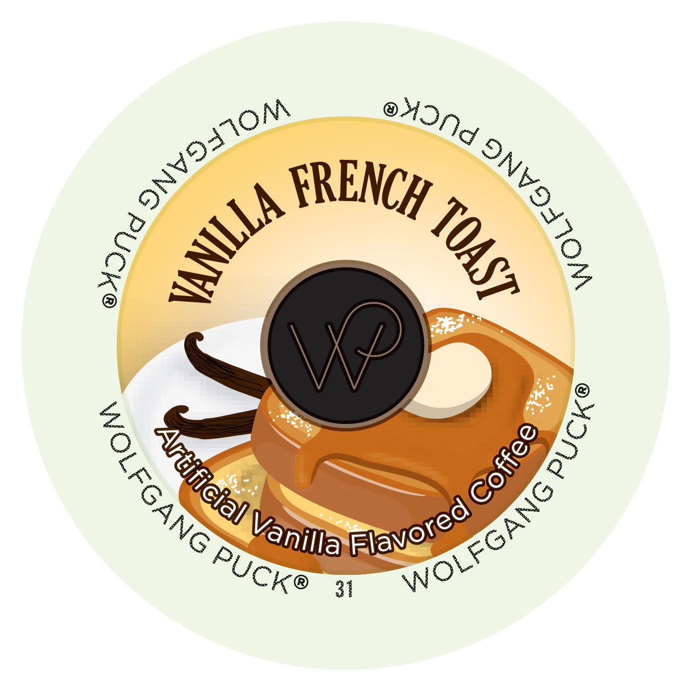 Wolfgang Puck Vanilla French Toast Coffee Single Serve Cups, 96 count