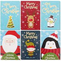 36-Pack Merry Christmas Greeting Cards Bulk Box Set - Winter Holiday Xmas Greeting Cards with Christmas Character Designs, Envelopes Included, 4 x 6 Inches