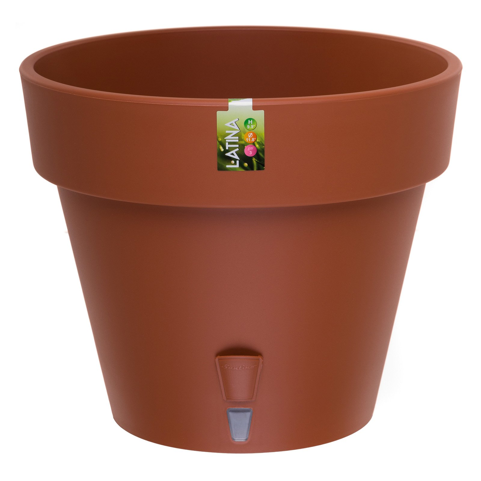 Latina Self watering planter 9.2 inch Terracotta