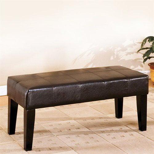 Furniture of America CM-BN6006 Bury Leatherette Bench
