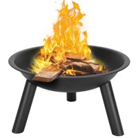 Ktaxon 22-Inch BBQ Grill Portable Wood Burning Fire Pits Iron Backyard Patio Garden Round Fire Pit Cooking Grill