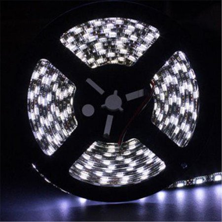 5 Metre Cool White Waterproof 3528 LED Light Strip Black - Black And White Strips
