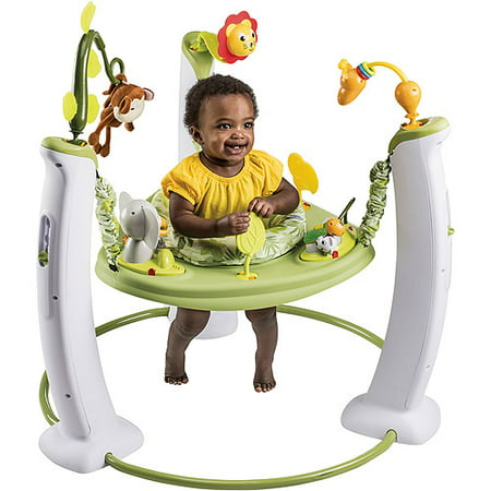 - Evenflo ExerSaucer Jump & Learn Stationary Jumper, Safari Friends