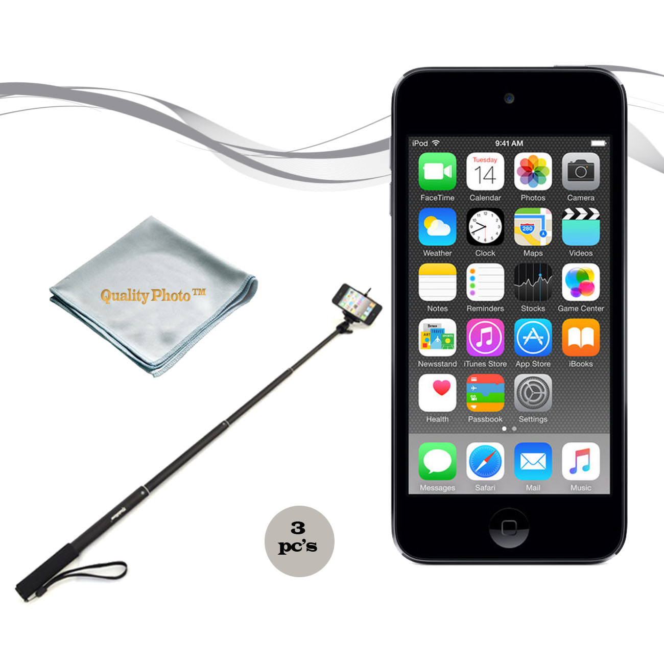 Apple Ipod Touch 32gb Space Gray (6th Generation) with a Istabilizer Istmp01 Monopod and Quality Photo Microfiber Cloth