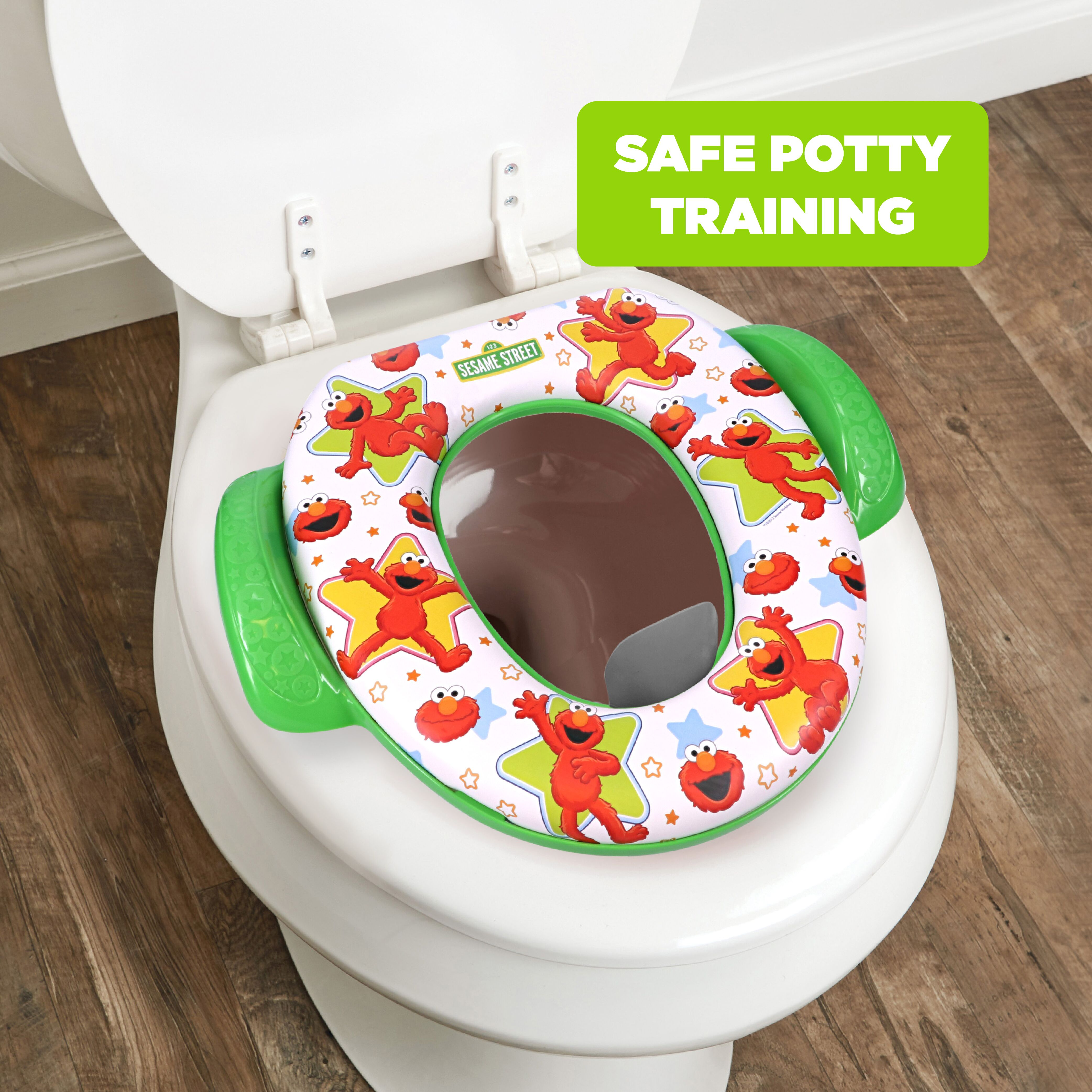 EG/_ Frog Shape Baby Soft Padded Round Potty Training Toilet Seat with Handles Co