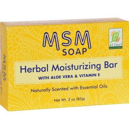 At Last Naturals Born Again MSM Soap Herbal Moisturizing Bar, 3 (Herbal Moisturizing Bar Soap)