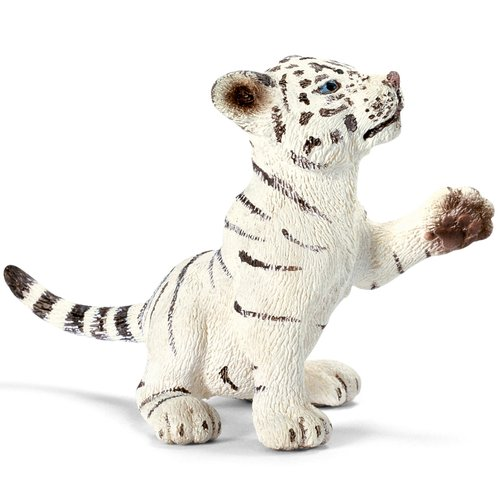 Schleich Tiger Cub White Playing Animal Figurine