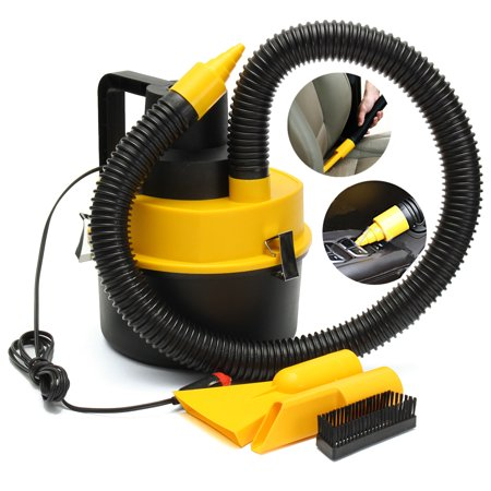 Grtsunsea 75W 12V Car Wet Dry Vac Vacuum Cleaner Hand-Held High Power Cleaner Kit Portable Inflator Turbo for Car Shop
