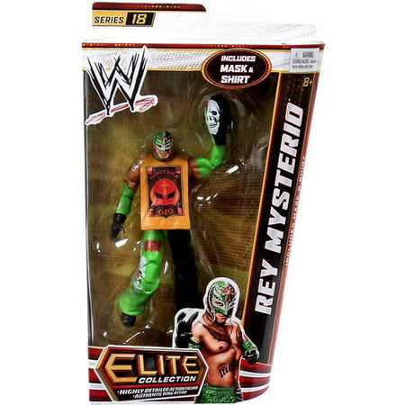 WWE Wrestling Elite Series 18 Rey Mysterio Action Figure [Mask & Shirt] for $<!---->