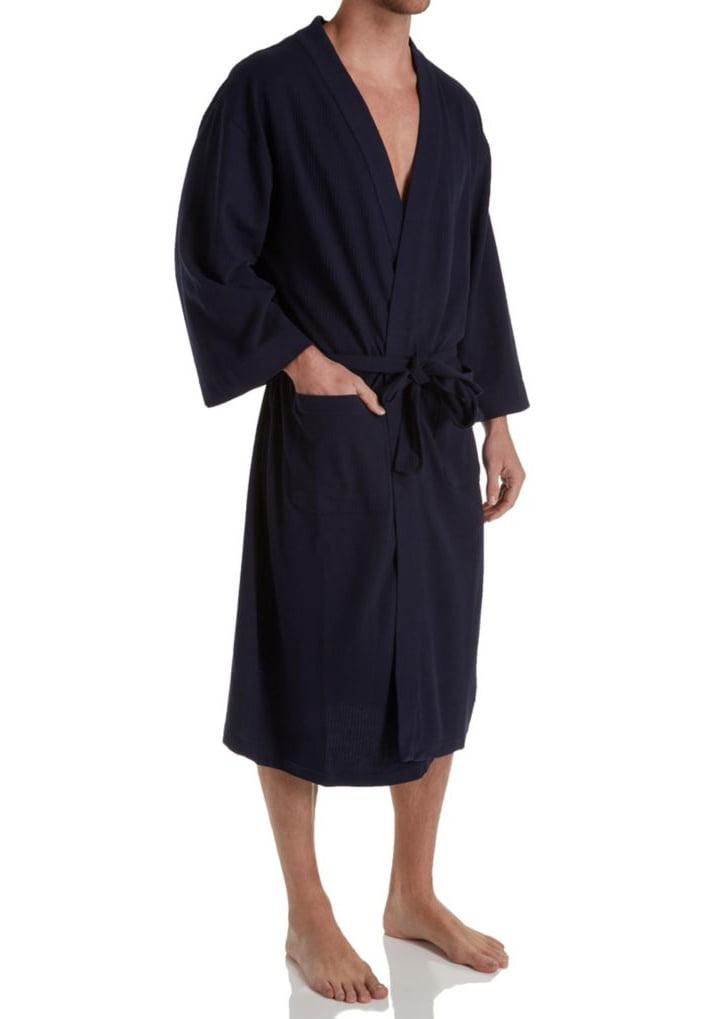Men's Hanes 5071T Tall Man Solid Waffle Knit Spa Robe