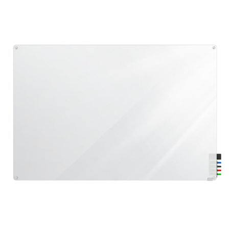 HMYRN23FR Ghent Markerboard Harmony Frosted Glass Whiteboard with Radius Corners, 2'H x 3'W ()