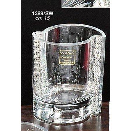 Le Monde Cadeaux, Swarovski Jeweled 3''H Crystal Candlestick, Decorative Votive