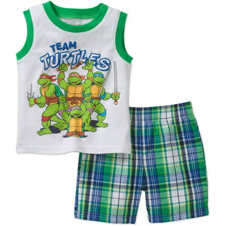 Teenage Mutant Ninja Turtles Newborn Baby Boys' Graphic Tank Top and Woven Shorts Outfit Set - Teenage Outfit Ideas Tumblr