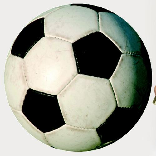 Wallhogs Soccer Ball II Cutout Wall Decal