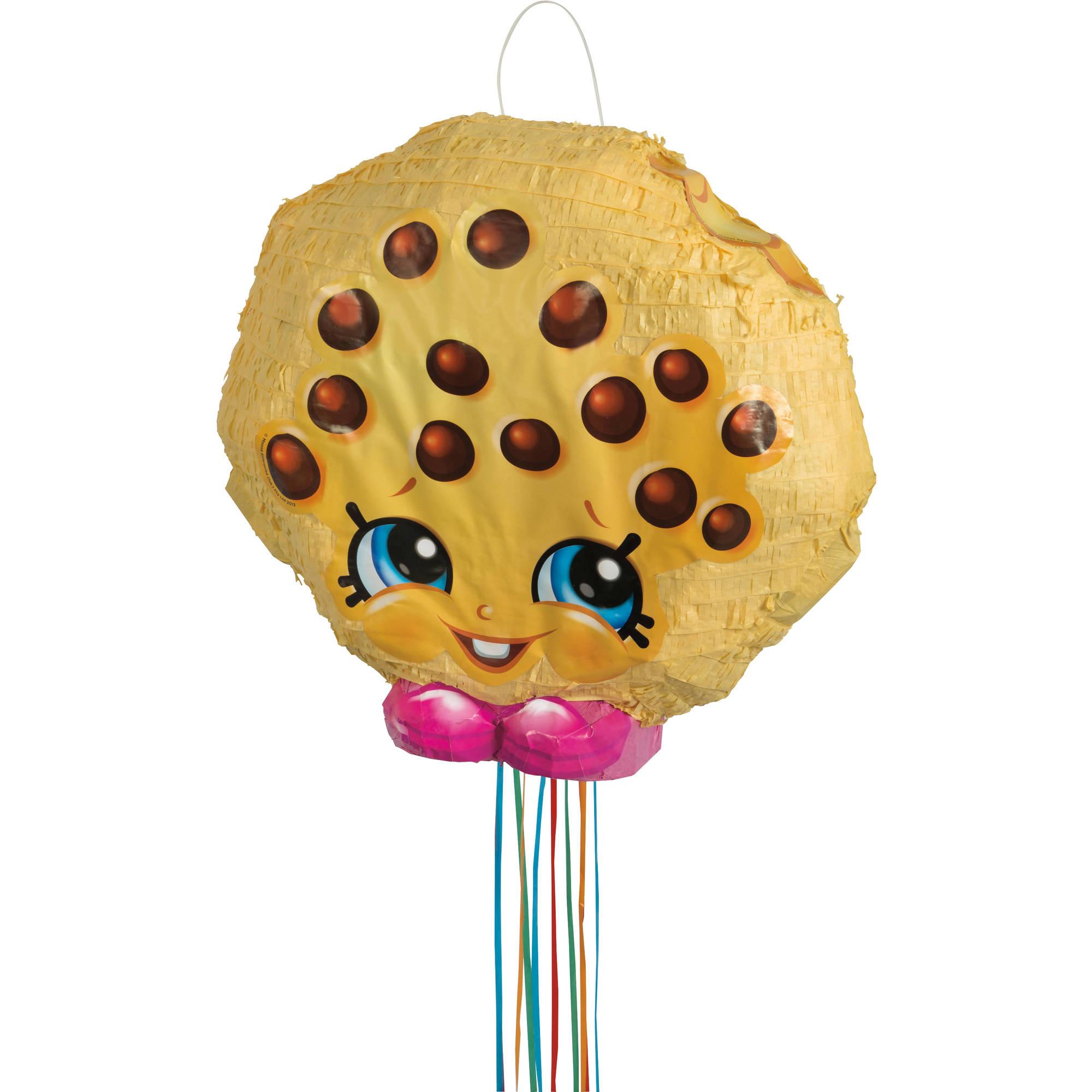 Kookie Cookie Shopkins Pinata, Pull String, 17 x 17 in, 1ct