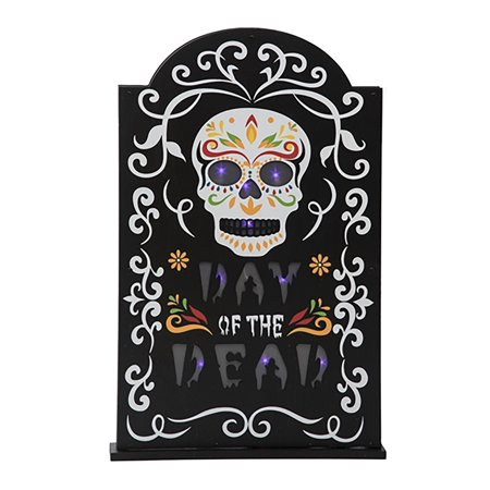 Light Up Day Of The Dead Tombstone Decor Walmart Canada