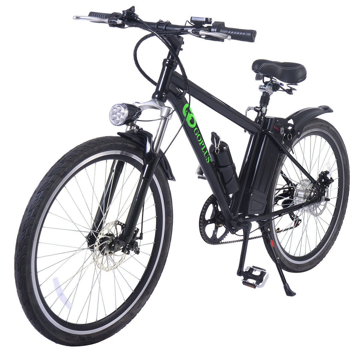 Goplus 26'' 250W 36V Electric Mountain Bicycle Variable Speed Lithium Battery Cup Holder