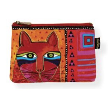 Laurel Burch Red Whiskered Cats Cosmetic Bag - Whiskers Makeup