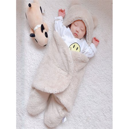 e4edfafd632 Newborn Infant Baby Cute Cotton Solid Sleeping Blanket Boy Girl Wrap Swaddle  - Walmart.com