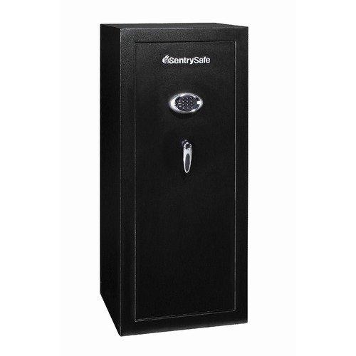 Sentry Safe Gun Safe with 24 Gun Capacity and Electronic Lock in Durable Black Powder Coat