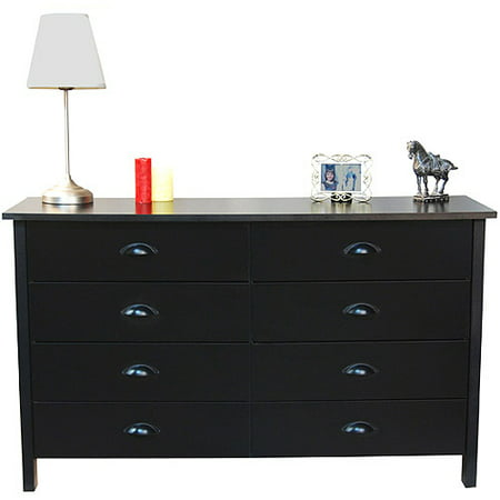 Nouvelle 8 Drawer Dresser Black