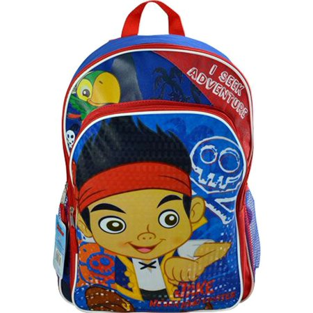 Jake and The Neverland Pirates Backpack 16 Large Kids School Book - Jake And The Neverland Pirates Backpack