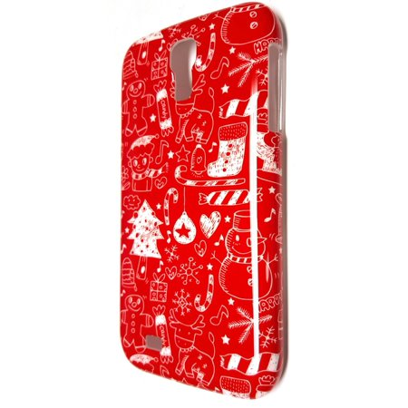 Radioshack Samsung Galaxy S4 Snap On Cell Phone Case   Holiday Red