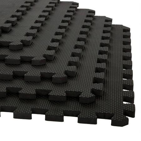 Stalwart Interlocking EVA Foam Mat Floor Tiles, 24 Sq Ft, 6 Pieces ...
