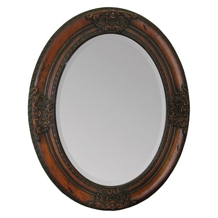 Ren-Wil Hand Carved Solid Wood Wall Mirror - 24W x 30H in.