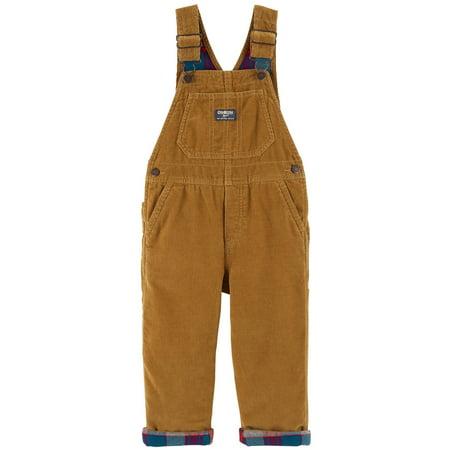Corduroy Embroidered Overalls (OshKosh B'gosh Little Boys' Corduroy Overalls, Toffee Corduroy, 5-Toddler)