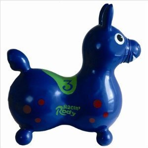 Gymnic / Racin Rody Inflatable Hopping Horse, Blue