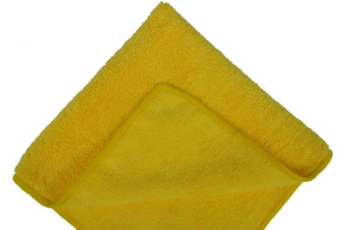 Kirkland Signature 713160 Ultra Plush Microfiber Towels 36 Pack Yellow
