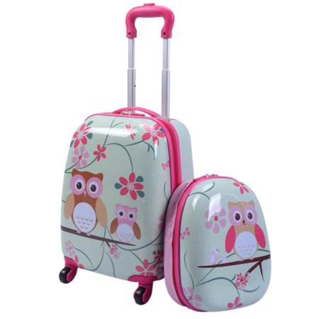 Personalized Suitcase Tins (2Pc 12'' 16'' Kids Luggage Set Suitcase Backpack School Travel Trolley ABS)