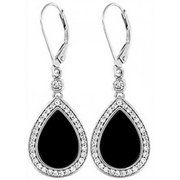 Doma Jewellery DJS02121 Sterling Silver (Rhodium Plated) Earring with Black Onyx