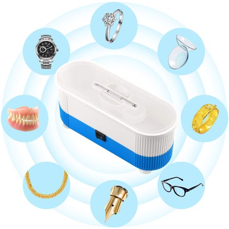 Ultrasonic Cleaner, Myriann Mini Cleaning Machine 300ml Tank for Jewelry Eyeglass Watches Business Commercial Home Use (Blue) ()
