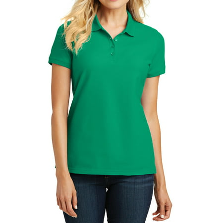 Mafoose Women's Core Classic Pique Polo T-Shirt Bright Kelly Green X-Small