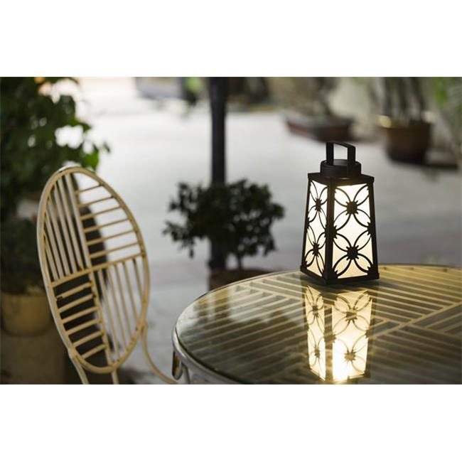 Winsome House WXE0051 Square Metal Lantern Solar Light