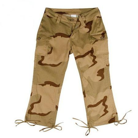 Tri Color Desert Camouflage Fatigue - (Price/EA) 1040 Womens Camo Capri Pants-Tri-Color Desert Camo-11-12