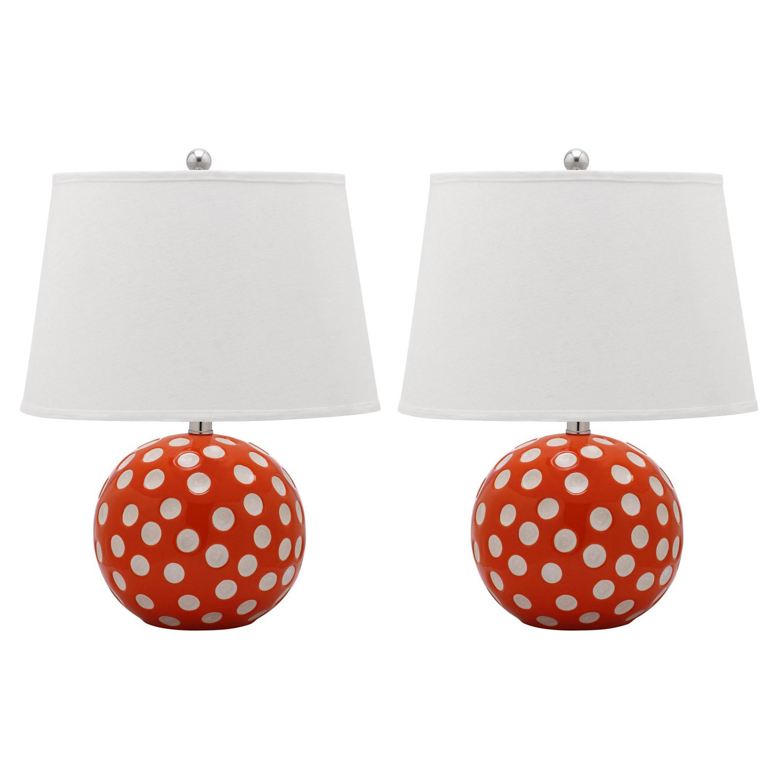 Safavieh Polka Dot Circle Table Lamp with CFL Bulb, Multiple Colors, Set of 2